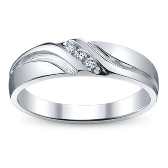 Men's Channel Set Band With Round Diamonds