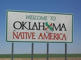 Oklahoma state line.  I always loved to see this!