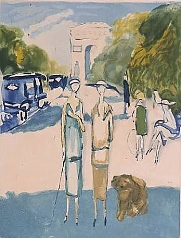 Kees van Dongen - Avenue du Bois, 1956