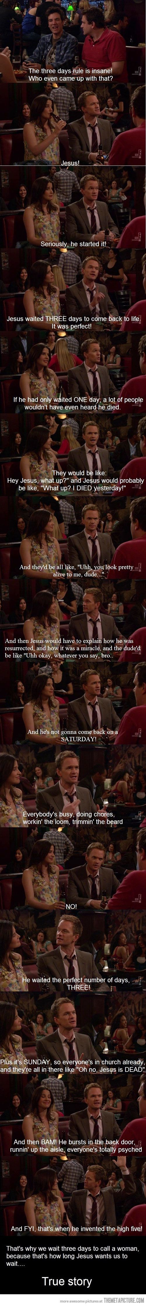 i love how w/ barney, never have to change the words, only direct quotes from him