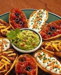 Super Bowl Food: make different types of potato skins