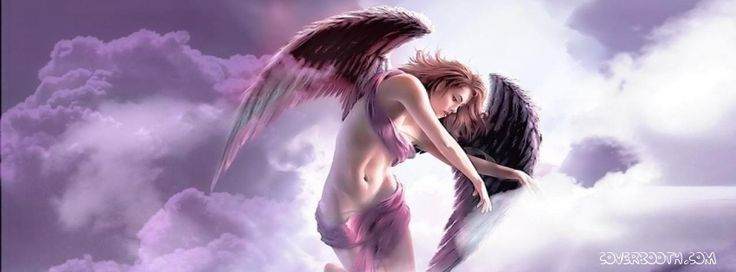 gorgeous fantasy angel in clouds cute girl winged cool facebook profile timeline covers. cute white angel in clouds facebook profile covers