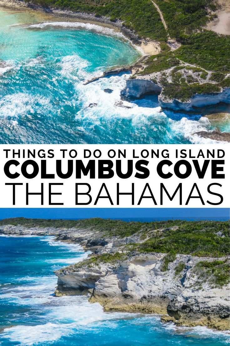 Columbus Cove on Long Island Bahamas is the landing site for Christopher Columbus on his voyage to discover the new world. Long Island Bahamas is one of the remote, but peaceful getaway Bahamas Islands. With most beautiful beaches at Cape Santa Maria Beach. Also home to Dean's Blue Hole, the worlds second deepest Blue Hole (sinkhole). For best Bahamas vacation fly to Long Island from Florida or Nassau Bahamas. Flights to Bahamas from Florida with Bahamas Air Tours.