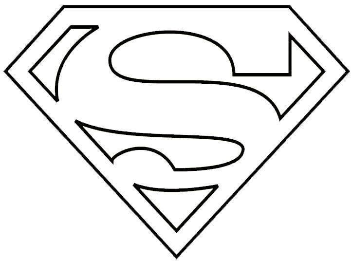 Escudo De Superman Para Colorear Superhero Logo Templates Superman Logo Superhero Template