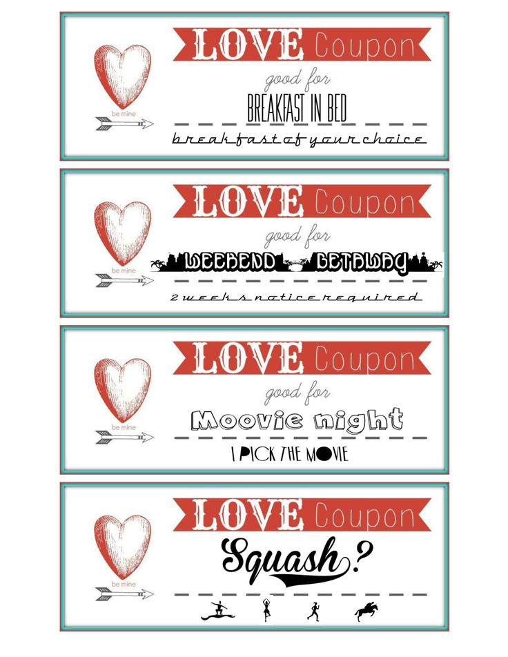 Personalized coupons for husband