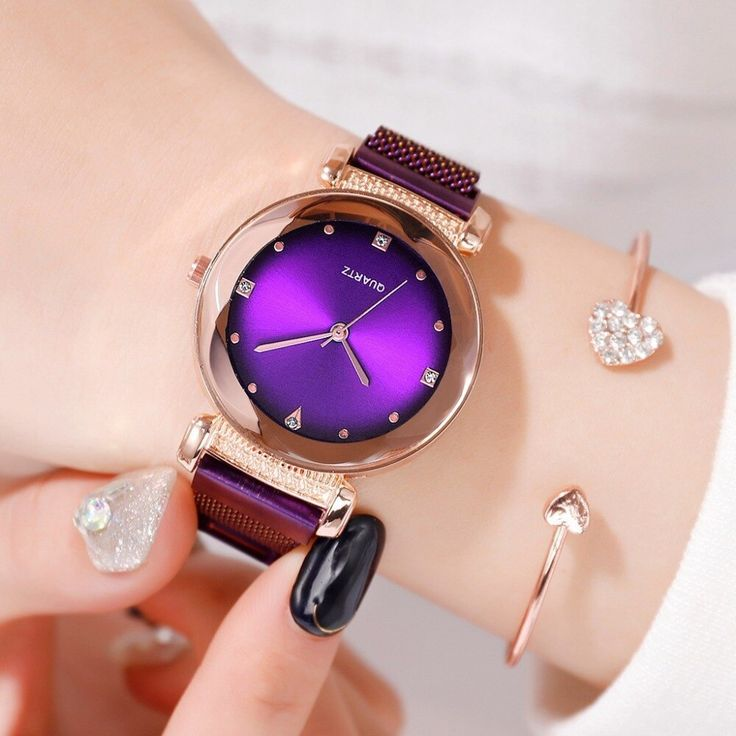 Luxury Flame Red Women Watches Fashion Diamond Ladies Magnetic Starry Sky Wristwatches Zegarki damskie Clock Gifts Montres Femme