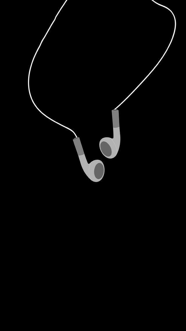 Oboi Llya Telefona S Temnym Fonom Oboi S Naushnikami Muzyka Oboi