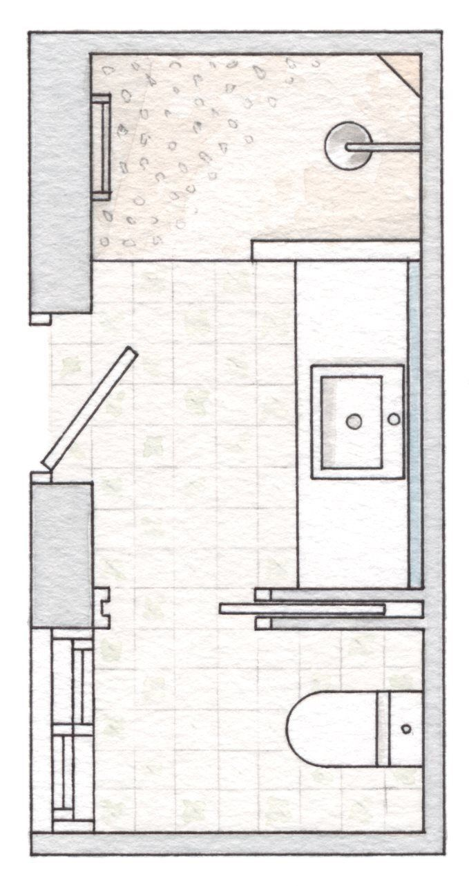 Separate Shower Funny Thing This Layout Is Exactly Like My Place Except There S A Wall Be Bathroom Layout Plans Small Bathroom Layout Bathroom Floor Plans