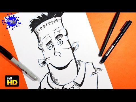 Hotel transilvania 2 /Como dibujar a Frankenstein / How to draw frankenstein