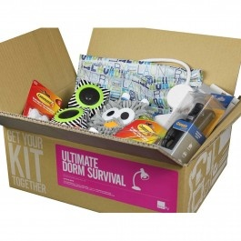 Set for survival. We know college students are just going off to the dorms, and not some stranded island, but it's still good to show up prepared. The Dorm Survival Kit is perfect to either kick-off or to complete the typical college-shopping list. Filled with necessary yet unexpected items, dorm life may just be a little more rough without this college survival kit. And yes, there's a Ping Pong ball in here. And no, we didn't include two rackets.As seen in Refinery 29 DCs