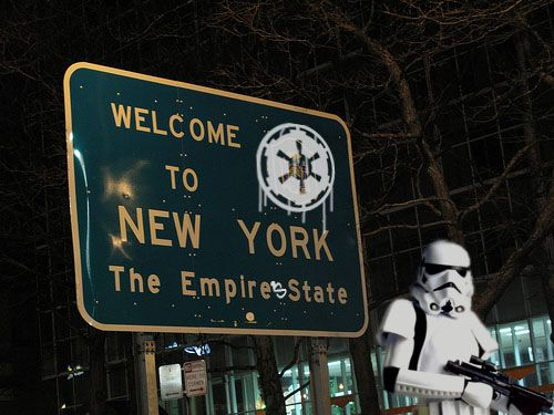 The Empire State: Big Apples, New York Cities, Empire States, Funny Signs, Welcome Signs, Stars War, U.S. States, Newyork, Starwars