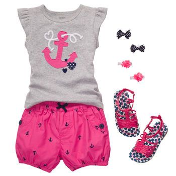 """""""Anchors aweigh"""" in this oh so cute for one of my daughter"""