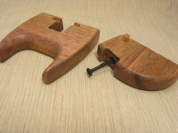 Acoustic Guitar Hanger African Mahogany by holobox on Etsy