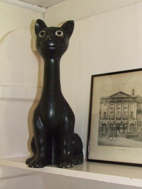 50s GIANT matt black cat - for sale via www.pompadukeandalice.co.uk