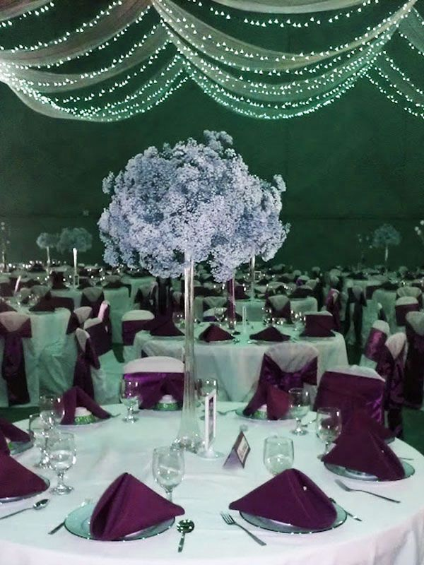 eiffel tower vases as wedding