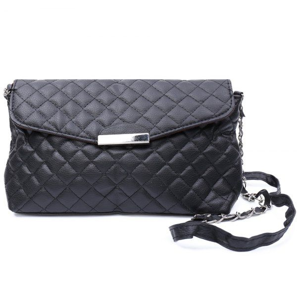 Wholesale Graceful Checked and Metal Design Women's Crossbody Bag Only $2.32 Drop Shipping | TrendsGal.com