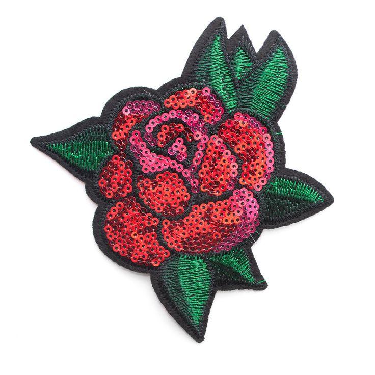 Aplikacja termo przylepna róża APL-152