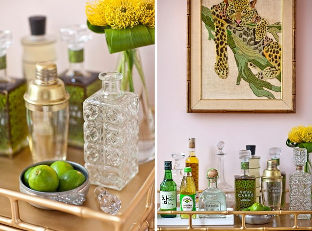 love the crystal decanter: Green Collection, Style Creative, Amethysts Rings, S'More Bar, Essential Bar, Citrus Bar, Bar Area, Citrus Inspiration, Bar Carts