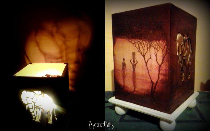 Elefántos fa éjjeli lámpa. Csodálatos fényvarázslat elefántháton :)