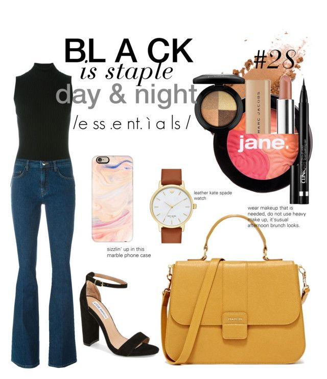 """#28"" by jovitapsutiono ❤ liked on Polyvore featuring jane, Marc Jacobs, Maison Margiela, Victoria Beckham, Steve Madden, Kate Spade, MAC Cosmetics, Clinique, Casetify and black"