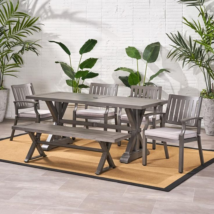 dark grey patio furniture gray