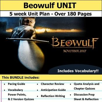 best beowulf images beowulf storyboard and  beowulf unit complete unit plan