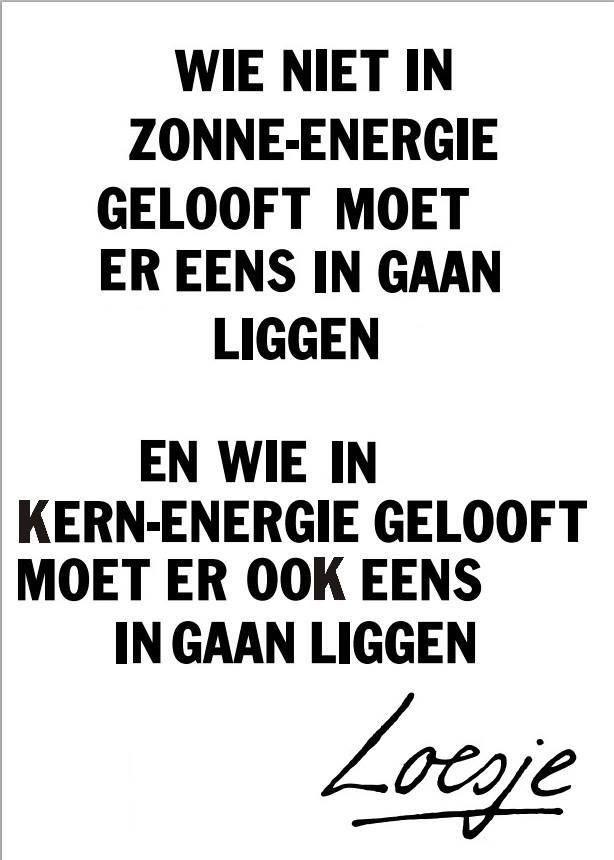 RECTIFICATIE: Deze poster is geen originele Loesje-poster. Het eerste deel is een quote van Loesje, het is nog onbekend wie het tweede deel heeft geschreven. Bekijk hier de posters van Loesje: http://www.loesje.nl/posters/
