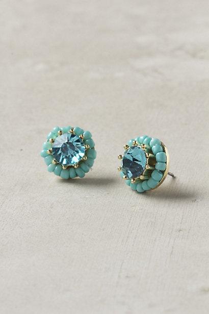 aqua studs: Aqua Studs, Turquoise Earrings, Sea Urchins, Studs Beautiful, Pretty Studs, Studs Earrings, Turquoise Jewelry, Something Blue, Blue Earrings