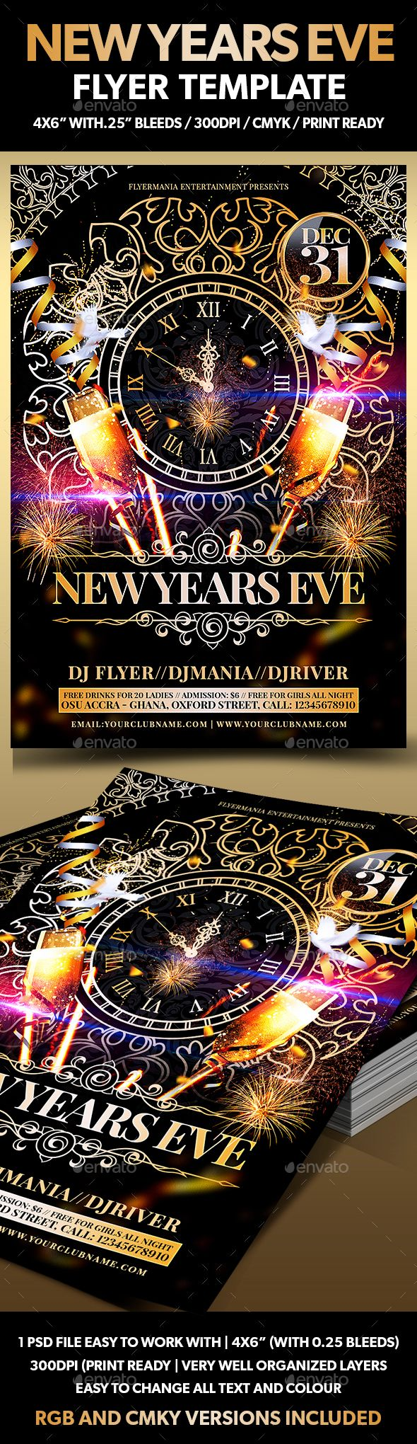 100 best new year party flyer templates images on pinterest party new years eve flyer template saigontimesfo
