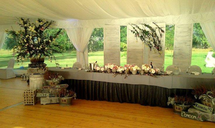 Dekoracja stołu pary młodej || Decoration of the newlyweds table
