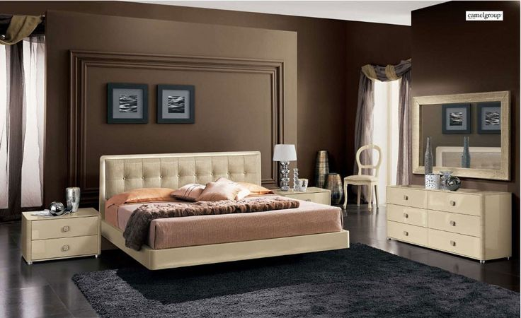 Contemporary Bedroom with Modern Sets