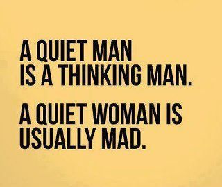 Hysterical!Quiet Woman, Funny Pictures, So True, Funny Stuff, Truths, Funny Quotes, Quietman, True Stories, Quiet Man