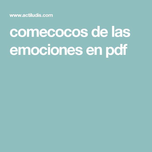 comecocos de las emociones en pdf
