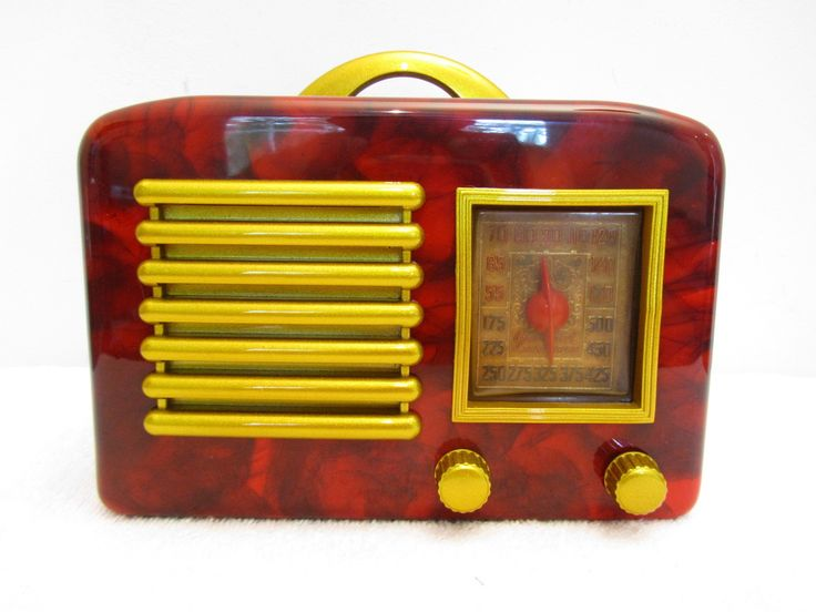 1940s GENERAL TELEVISION ART DECO OLD BAKELITE RADIO: Radiosmi Passion, Antiques Radiosold, Radios Mi Passion, Bakelite Radios, Antiques Radios Old, Radios Old Time, Radios Addiction, Radiosold Time, Classic Radios