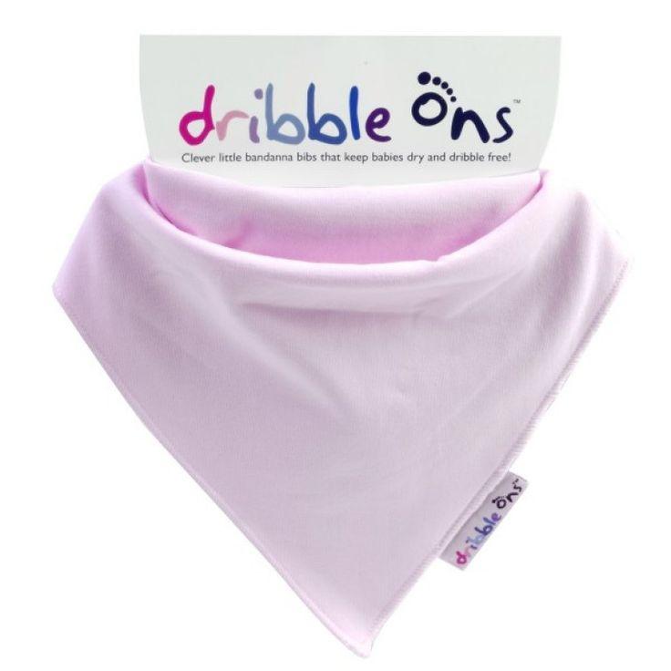 Dribble Ons Dribble Bib Baby Pink
