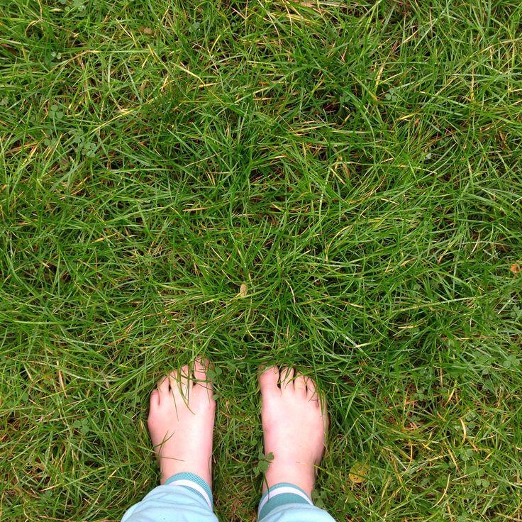 My feet in grass