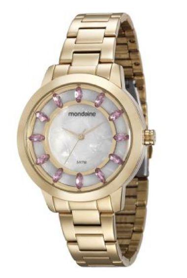 99051LPMVDE1 Relógio Feminino Mondaine Analógico Dourado | Guest Club
