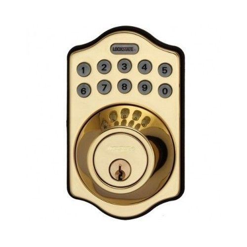 keyless deadbolt electronic keypad door lock pin code smartcode doorknob home lockstate