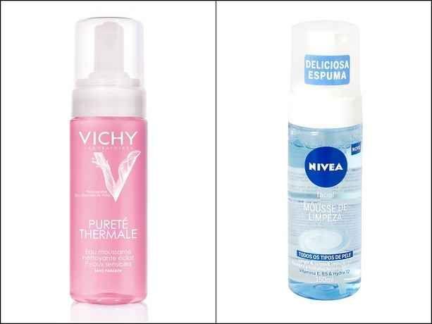 Espuma de limpeza facial para combater a preguiça de lavar o rosto.