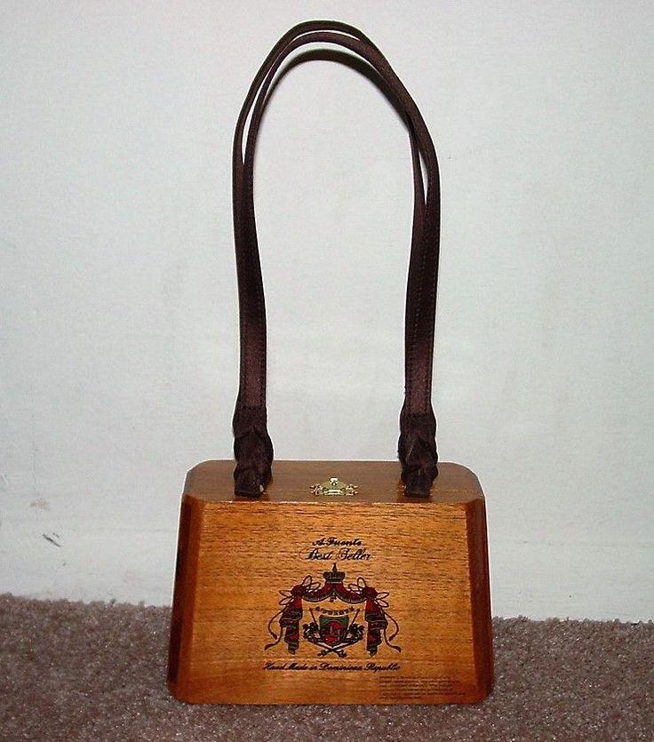 A. Fuente Best Seller - Cigar Box Wood Purse - Handbag Felt Lined