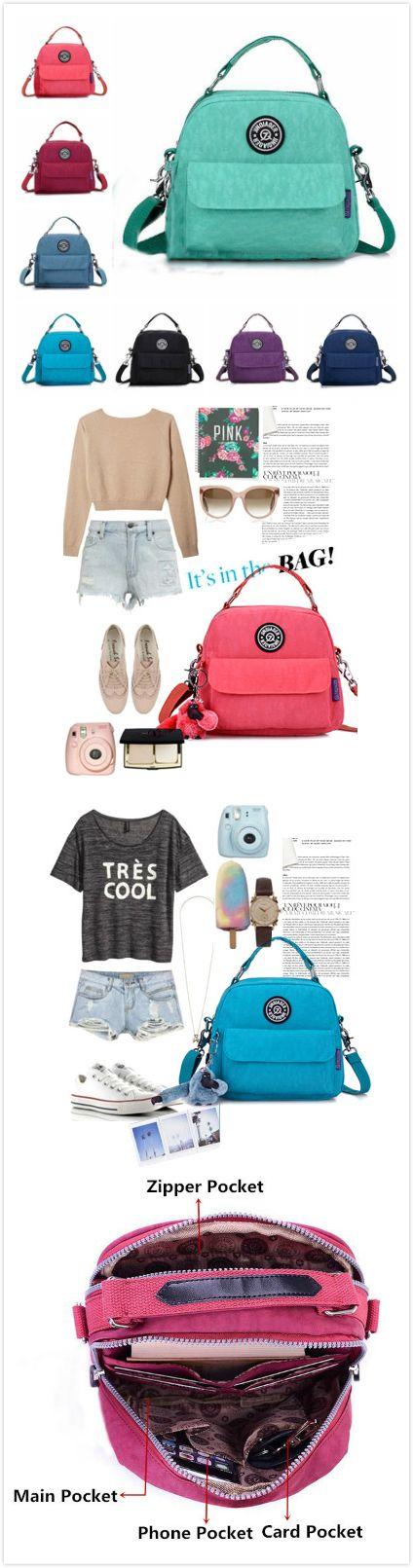 [$ 16.79] Jinqiaoer Women Waterproof Casual Portable Totes Crossbody Bags Shoulder Bags Backpack