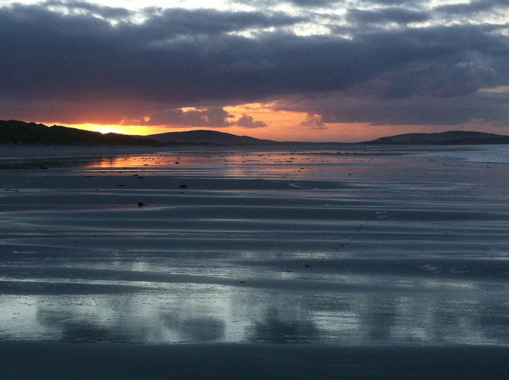 Sunset over North Uist