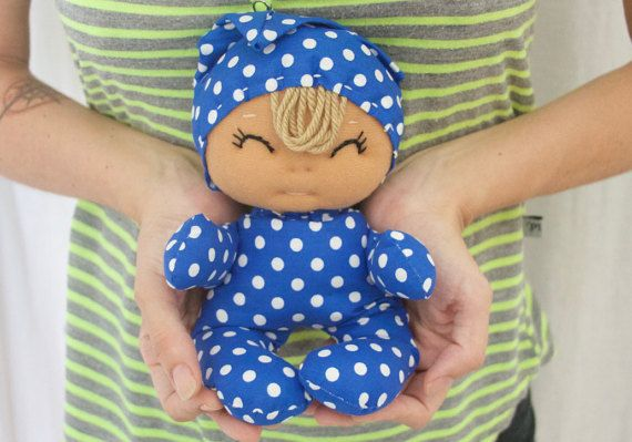 Soft sculpted 10 inch smiley baby doll