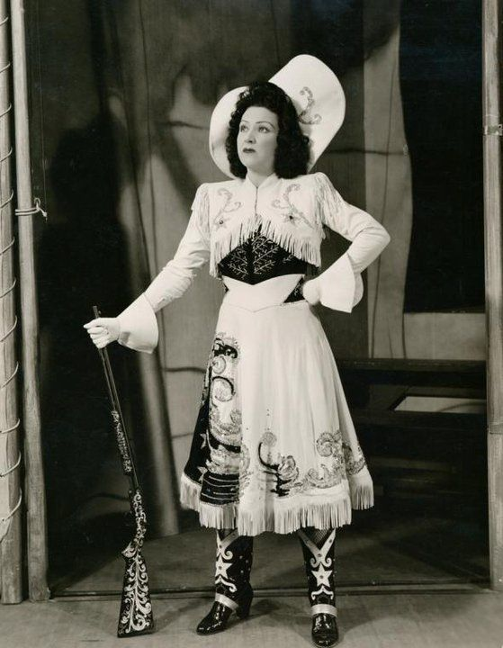 Ethel Merman, 1946, publicity shot for Annie Get Your Gun
