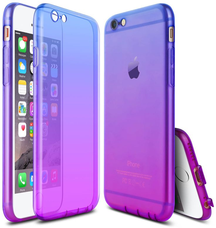 JWCTECH iPhone 6 Case Colorful Gradient Slim iPhone 6s Case Impact Resistant Shock Absorbent Flexible TPU Bumper Case for Apple iPhone 6/6s 4.7inches Blue&Purple. Exclusively for IPhone 6/6s:Designed for Apple iPhone 6 (2014 Model) and iPhone 6s (2015 Mod