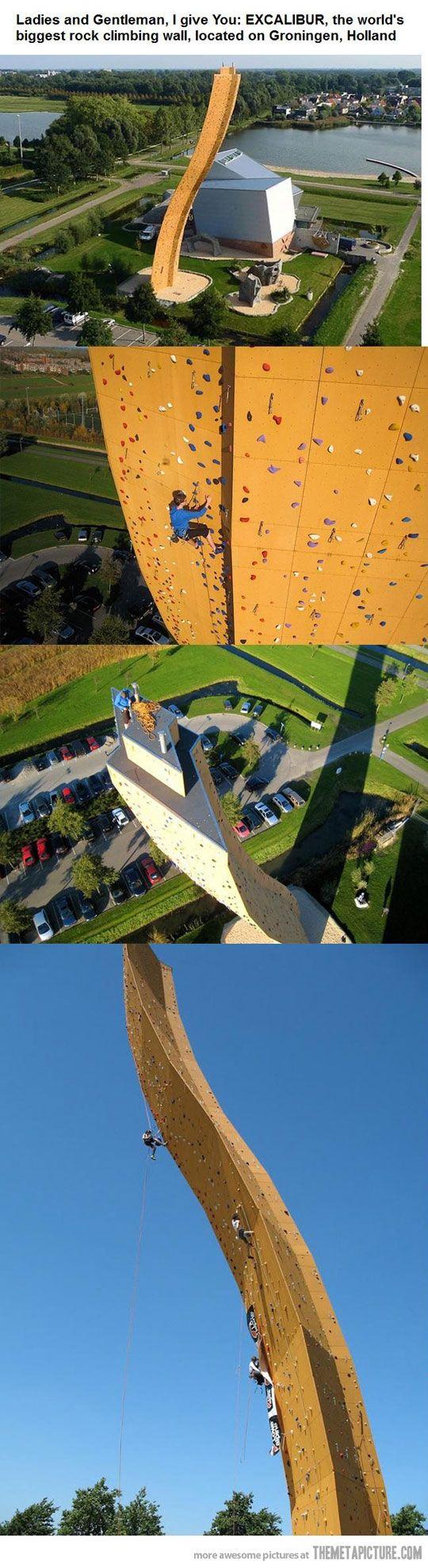 The world's biggest climbing wall