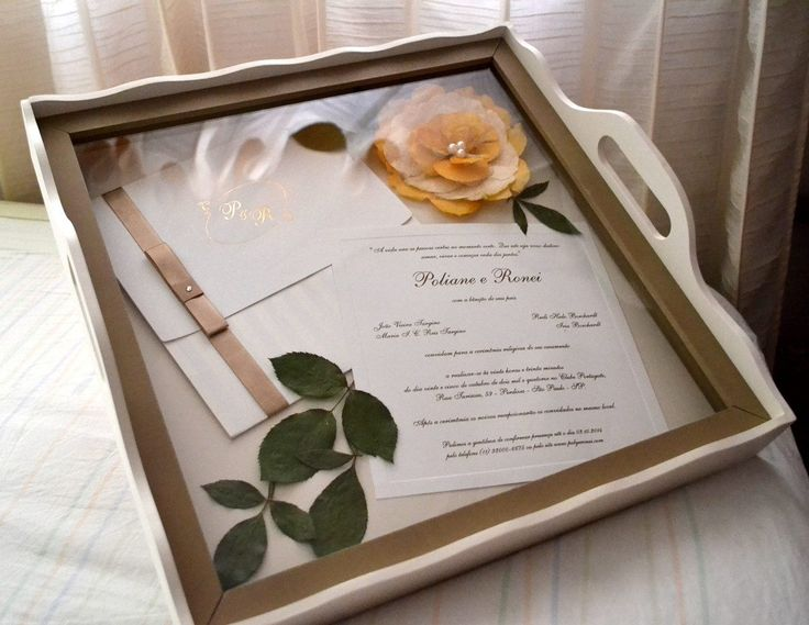 bandeja convite de casamento - Pesquisa Google