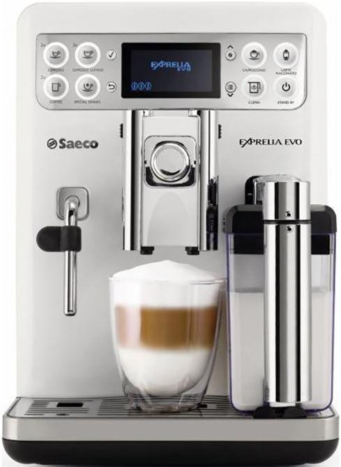 Saeco Exprelia Evo HD8859/01  Saeco Exprelia Evo HD8859/01: Geheel naar jouw smaak met één druk op de knop Met de Saeco Exprelia Evo HD8859/01 kun jij genieten van de heerlijkste koffiedranken die precies op jouw wensen zijn afgestemd. Zo bepaal jij zelf de sterkte hoeveelheid koffie en temperatuur van jouw drank. Deze voorkeuren kun jij met de geheugen functie opslaan waardoor jij met één druk op de knop jouw persoonlijke koffie bereidt. Met de pre-brewingfunctie wordt de gemalen koffie…