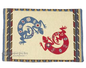 """Woven Southwestern Tapestry Placemat 13""""""""x19"""""""" -Gecko (tp1)"""