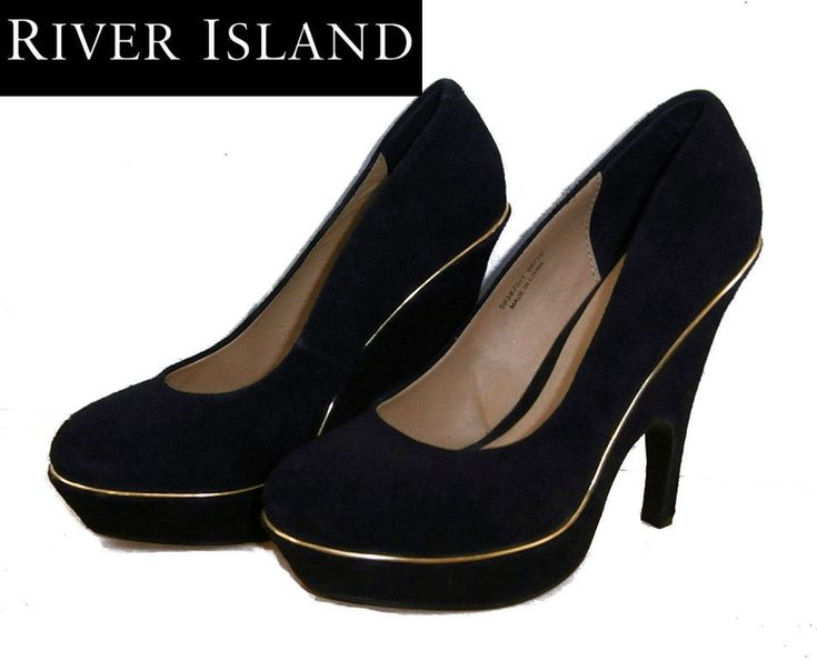 Black Suede Platform Court Shoes. One of the top 2017 shoe trends is the platform adding height and loveliness to just about any outfit. River Island. Dispatched from the UK. New with labels. RRP £69.99. | eBay!